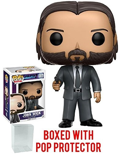e7cf0585a03 Pop Protector Funko Pop! Movies  John Wick Chapter 2 Vinyl Figure (Bundled  with