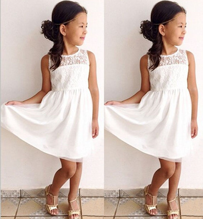 656b0c9d8655c NEW Fashion Baby Girls White Lace Dress Party Formal Princess Children Kids  Summer Dresses