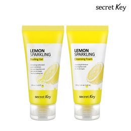 【Secret Key HQ Direct Operation】 💖1+1💖 Lemon Sparkling Peeling Gel 120ml + Cleansing Foam 120g