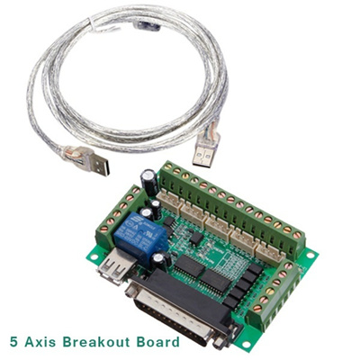 New 5 Axis CNC Breakout Board Adapter for Stepper Motor Driver Mill Input  Cintroller h3 with USB Cab