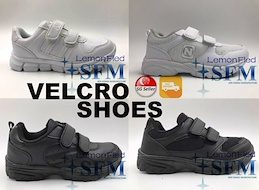 [LOCAL ] School Shoes Velcro Designs Only. Variation++ FREE DELIVERY