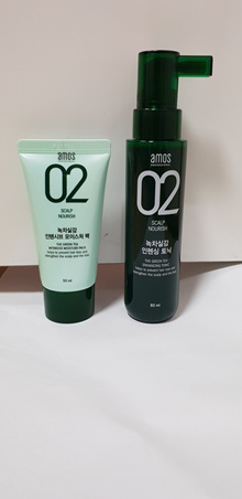 Amos Scalp Care Feel the Green Tea Enhancing Tonic 80ml +Intensive moisture Pack 50mlHair Loss Treat
