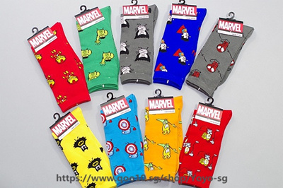 Underwear & Sleepwears New Marvel Comics Heroes General Socks Cartoon Iron Man Captain America High Temperature Stitching Pattern Casual Mens Socks