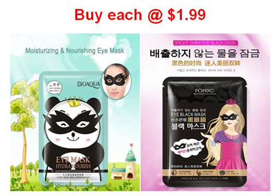Bioaqua Panda Eye Mask and Rorec Korean Eye Mask!!!! 1 sold: Rating: 3: Free~: S$3.90 S$1.99