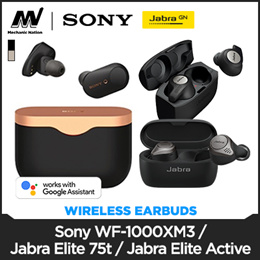Local Best Seller! SONY WF-1000XM3 Noise Cancellation Wireless Earbud / JABRA ELITE 75T - 12 Months Warranty