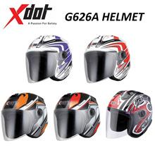 X-Dot Open Face Helmet/Motorcycle Helmet/G626A Helmet/Open Face Helmet/X-Dot Helmet/AR Blue Helmet/AR Red Helmet/ID Red Helmet/ID Orange Helmet/KF Black Helmet