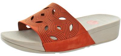 6d5872cc1fc Qoo10 - Fit Flops FitFlop Womens Bahia Leather Slide Sandals   Shoes
