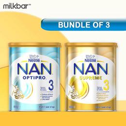 Nestle NAN Optipro HA Formula Milk Stage 2/3/4 (BUNDLE OF 3) / Nett $70 For Optipro 3 No Option Price Cheapest In Qoo10