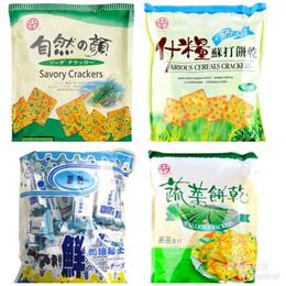 【愛心商店街】中元普渡拜拜4種自然之顏鮮奶油起司蔬菜蘇打量販包中祥餅乾蘇打餅自然的顏