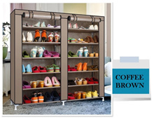 6 - Tier with 10 Columns Dust Cover Shoe Rack