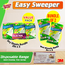 [Official E-Store] [BUNDLE OF 3]Easy Sweeper Dry or Wet Wipes/Disposable/Refills[FREE YAKUN VOUCHER]