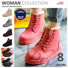 High Quality Women Winter Boots Suede Ankle Snow Boots Female Warm Fur Plush Insole