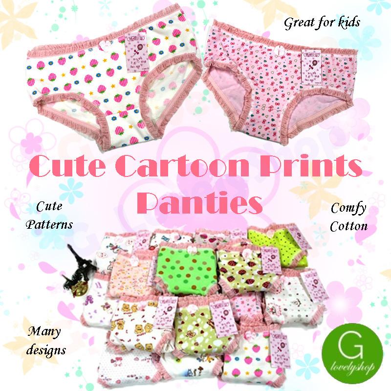 6c938b0113 Qoo10 - Cute Cartoon Frilly Lace Cotton Comfortable Panty Underwear ...