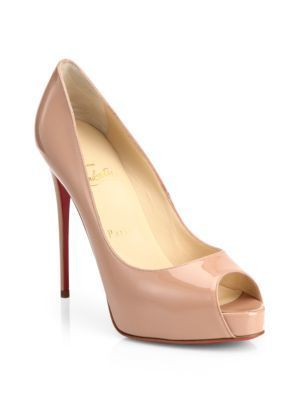 buy popular f0529 35e98 Christian LouboutinChristian Louboutin New Very Prive 120 Patent Leather  Peep Toe Pumps
