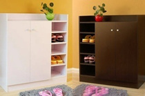 Wooden Shoe Cabinet with 5 tier