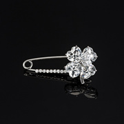 Lucky clover Korean Mini Brooch flower shirt collar pin anti female clothing accessories