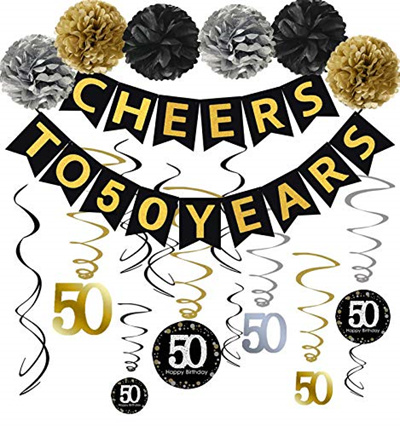 Famoby 50th Birthday Party Decorations Kit