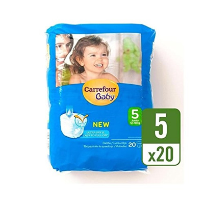Qoo10 - Carrefour Baby Ultra Dry Pull On Size 5 Carry Pack 20 per ... 387dfa8dd52
