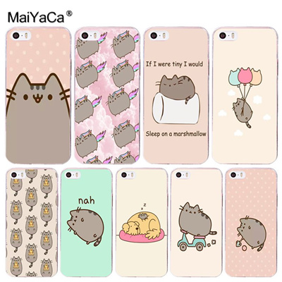 newest c1602 0e54c MaiYaCa Pusheen Cat 2017 New Luxury fashion cell phone case for iPhone 8 7  6 6S PlusX 10 5 5S SE 5C