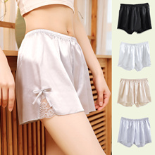 Womens  Safety Pants Lace Ice Silk 3-point Safety Shorts