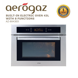 Aerogaz Built-in Electric Oven 43L With 8 Functions (AZ-8043EO)