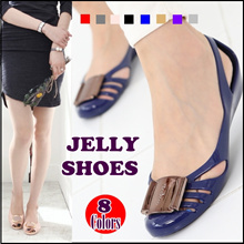 ★ 2017 Korea HIT★ Women jelly shoes soft comfort flats wedge heels sandal girl ladies Melissa Style