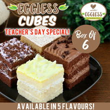 [Emicakes] Eggless Cubes Box of 6! Available in 5 different flavour cakes!