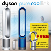 DYSON TP03 PURE COOL AIR PURIFIER FAN [2Sets] + FREE DYSON AM06 Desk FAN [1Set] (2 YEAR WARRANTY)
