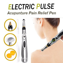 ◆HOT SALE◆ [NEW ] Electric Pulse Energy Meridians Tools Relief Acupuncture Pen Stainless Steel