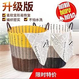 Extra large woven laundry basket hamper storage basket tube Toy storage basket rattan-like bathroom