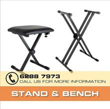 [Top Seller] Portable Piano Keyboard Piano Stand Bench Yamaha Keyboard/Casio Keyboard/Roland/Korg