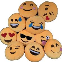 Emoji Cushion Smiley Emotion Cute Adorable Round Yellow Throw Pillow Gift