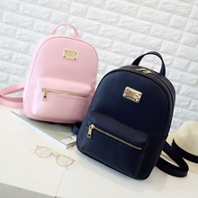 store Rusoonnic Leather Backpack Women Backpack Black Pu Bagpack School Bags for girls Mochila Femin