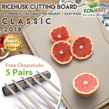 3 DAY PROMO [ Ricehusk Cutting Board CLASSIC ] Designed by Martin Yan | anti-bacterial