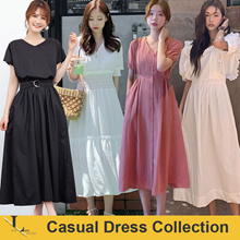 23rd Jun Update  ♥Korean Style♥ Linen / Casual / LOOSE Fit / Dress / Plus Size / Encounter Dress