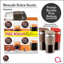 NDG: NESCAFE Dolce Gusto Intenso Promo Pack with Bodum Travel Mug