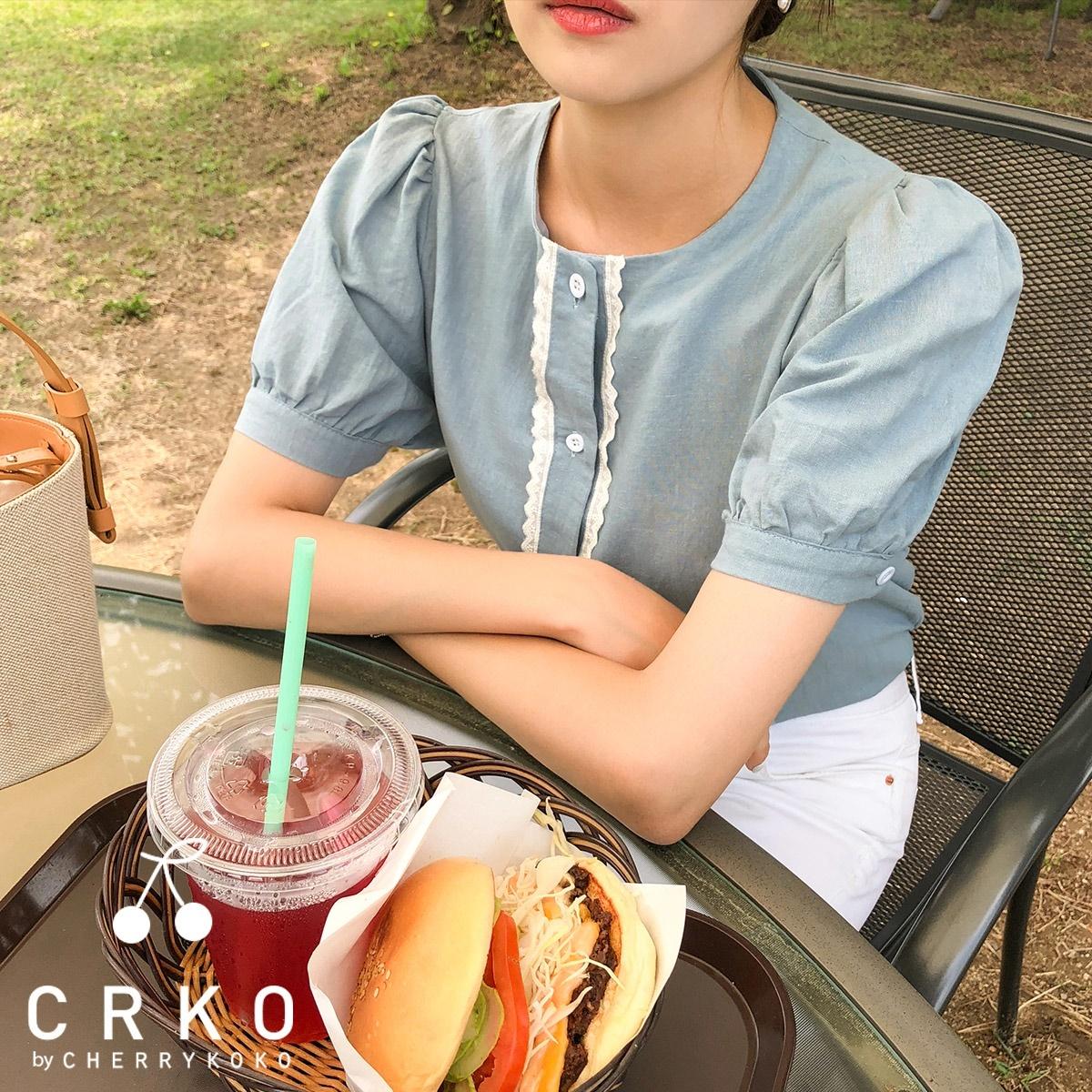 [CHERRYKOKO官方旗艦店] 圓領襯衫 / sea lily blouse