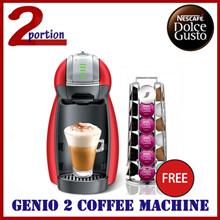 NESCAFE Dolce Gusto Genio 2 Coffee Machine + FREE Capsules Holder