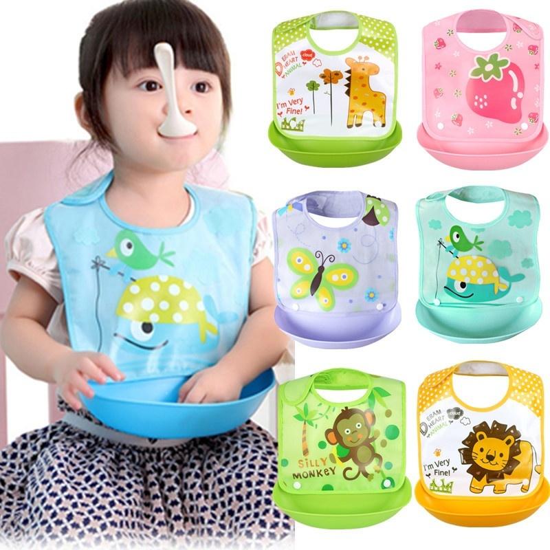 Cute Baby Bibs Creative Removable Waterproof Lunch Feeding Bibs ... 78e74e5182