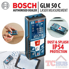 Bosch GLM 50C Laser Measure. Direct digital transfer of measured results. Fast efficient transfer through bluetooth and micro usb. Additional functionality due to integrated 360degree sensor. Precise.