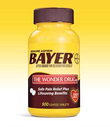Bayer Aspirin 500 tablets [GENUINE BAYER ASPIRIN, 325 MG., 500 COATED TABLETS]