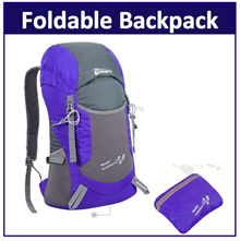 【Free Shipping】Foldable Backpack Hiking Outdoor Drawstring Travel Bags Laptop Computer Back Pack