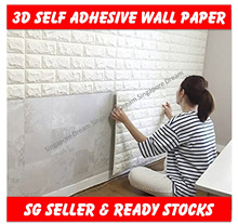 3D Wall Paper Stickers / Self-adhesive Wallpaper For Living Room Bedroom Background Wall Decoration