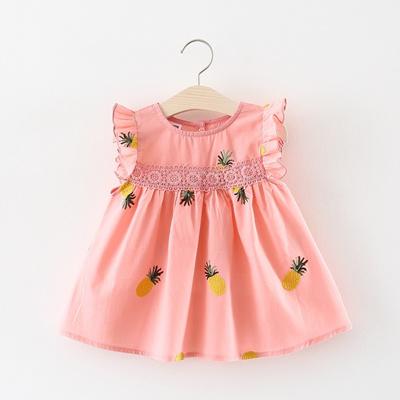 8d68db30d30f7 Cute Baby Girls Clothes 2018 Summer Baby Girl Dress Pineapple Infant Dress  Newborn Cotton Lace Ruffl