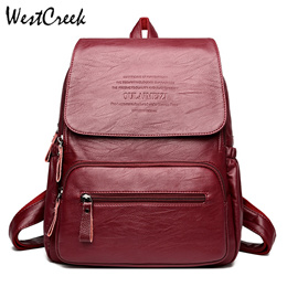 Vintage Leather Backpacks Female Travel Shoulder Bag Mochilas Women Backpack Large Capacity Rucksack