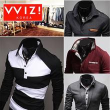 [WIZI]★NEW★Mens stylish Polo T-shirts Collection ☆★COLLAR T-SHIRTS★☆