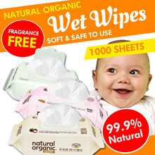 Korea Made♥1000sheets♥Natural Organic Wet Wipes Tissue♥Premium Quality♥UltrapureWater♥Soft Unscented