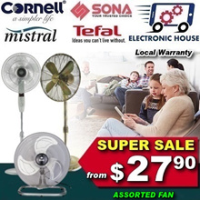 ★ SUPER SALE - Mistral MSF1679R/ MSF1678 Stand Fan - More options available ★ (Local Warranty)