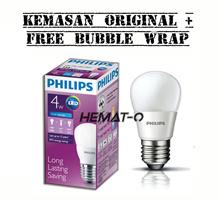 (Kemasan Original + Free Bubblewrap) Philips LED 4 Watt Putih