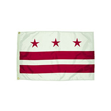 Flagzone Nylon District of Columbia Flag Heading & Grommets